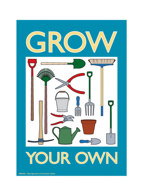 Gardening tools illustration by Willie Ryan