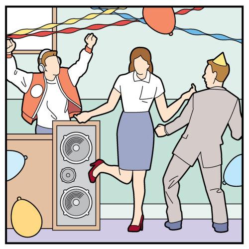圣诞办公室聚会插画,威利·瑞安(Willie Ryan)