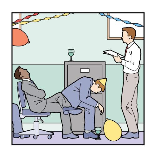在办公室聚会中的人讲话插图Willie Ryan