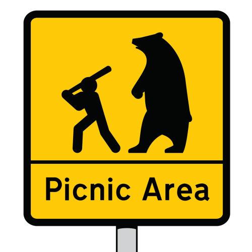 火柴人和熊矢量图标