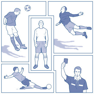 Soccer moments illustration