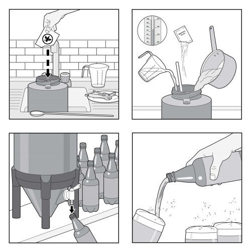Infographic design of BrewDemon beer making process