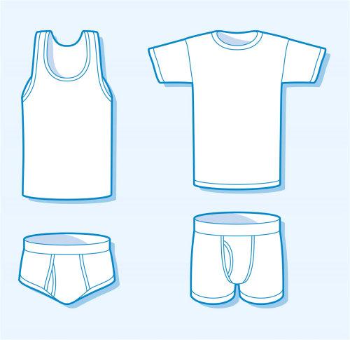 衣服的线描