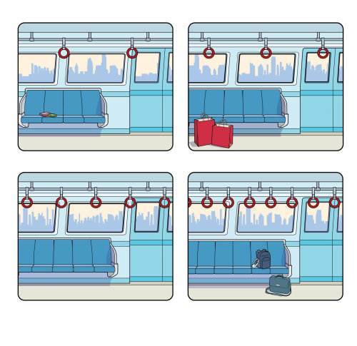 Interior Graphic design of tube train