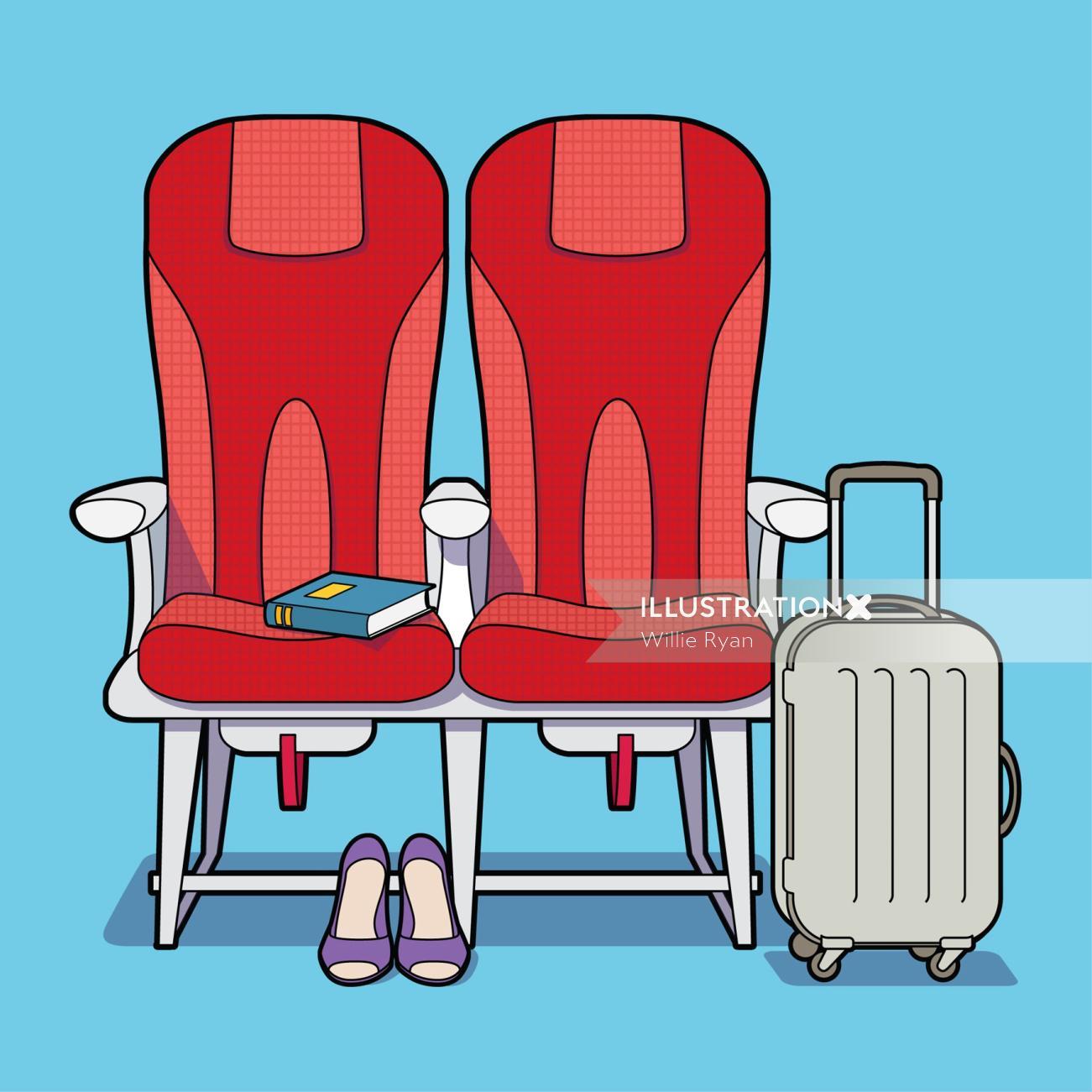 Graphic Illustration For Listerine Breath aeroplane seating,Willie,Ryan,illustrator,illustration,gra