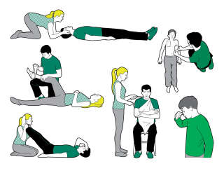 Vector infographics of first aid instructions