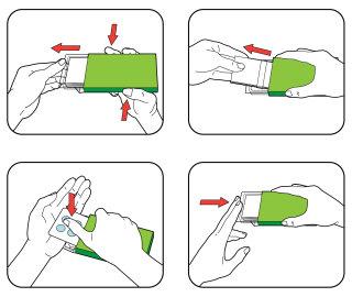 Packaging diagram for pharmaceutical pills pack