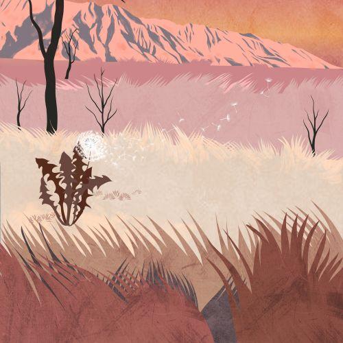 Beautiful nature scenery illustration