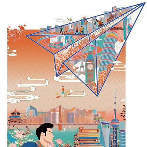 Vector imagery for CAS Newsletter magazine