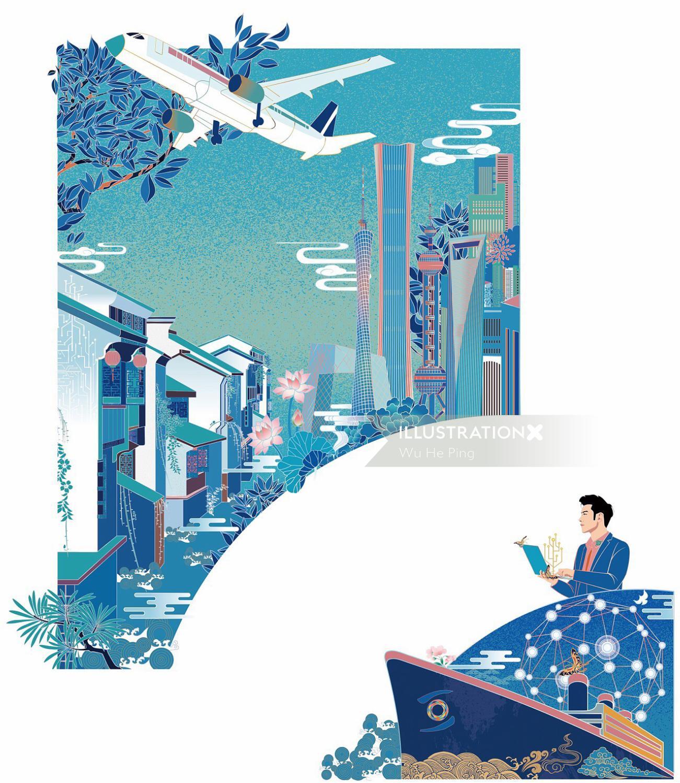 Cityscape graphic design
