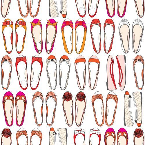 Illustration of female footwear