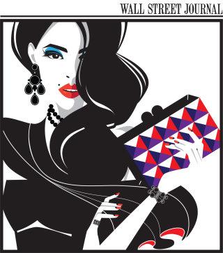 Illustration of fashionable lady