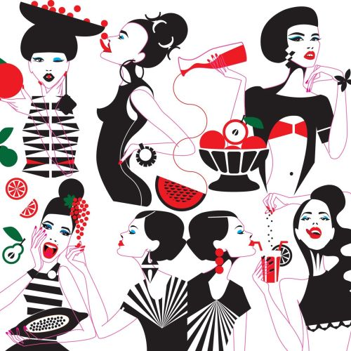 Illustration of fashion women