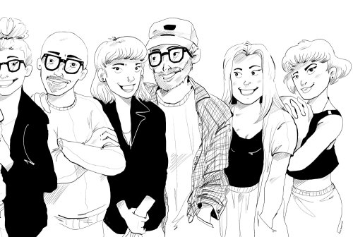 People line drawing