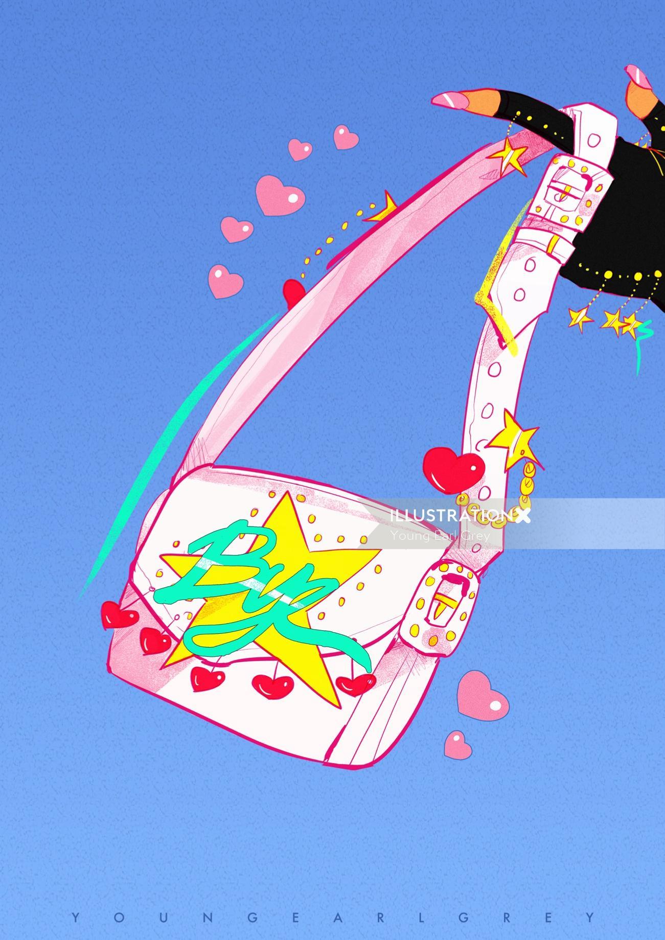 Female handbag design for c'est paris