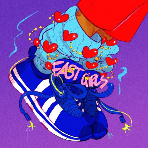 Sneakers shoes art by Earl Grey illustrator
