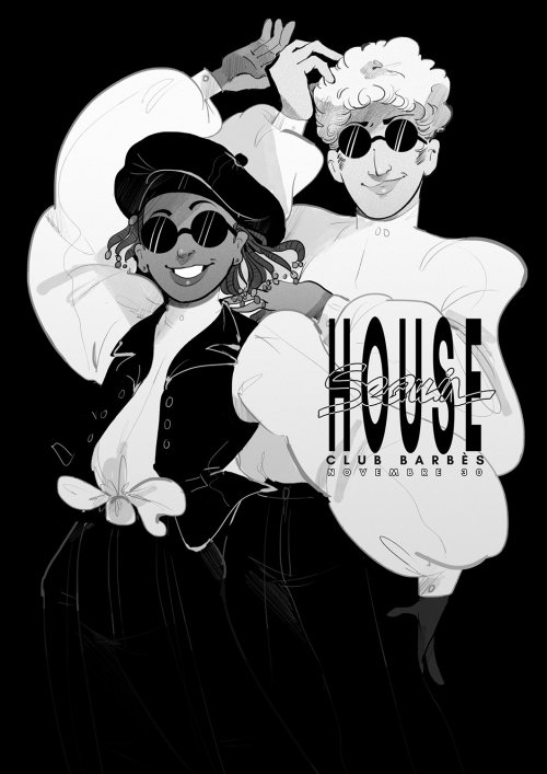 Illustration for Sequin house club barbes