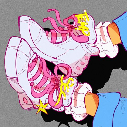 Retro graphic design of female shoes