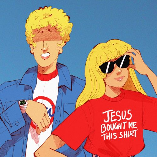 Retro fashion illustration of couple