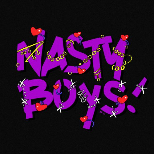 Lettering Illustration Of Nasty Boys