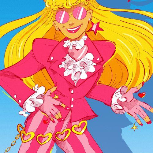 Barbie and the Rockers retro fashion illustration