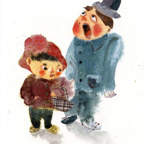 Children's character design by Zhe Titi