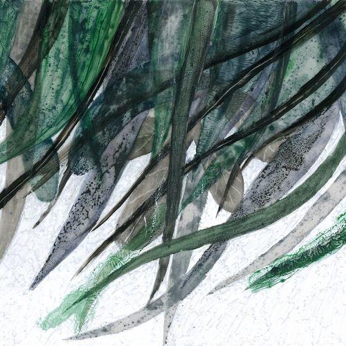 Plural leaves watercolor painting