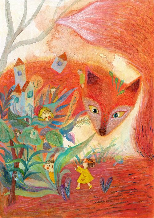 Animal illustration of Red fox