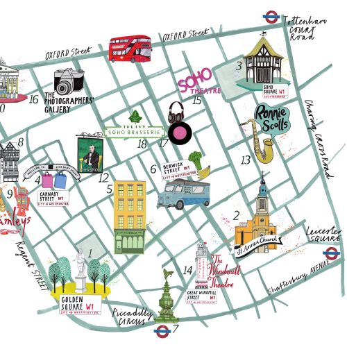 Oxford street map illustration