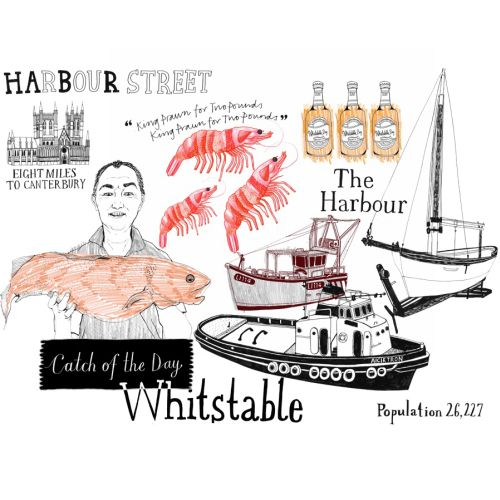 Illustration for Whitstable by Zoe more Oferrall