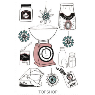Illustration for TopShop cookery by Zoe more Oferrall