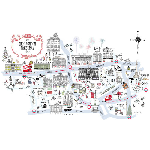 The Shop London Christmas Map