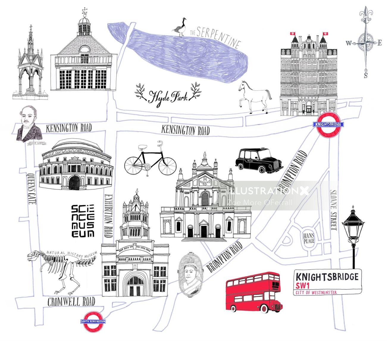 KnightBridge street map