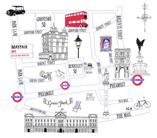 Mayfair Street Map