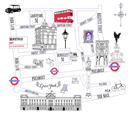 Mayfair Street Map