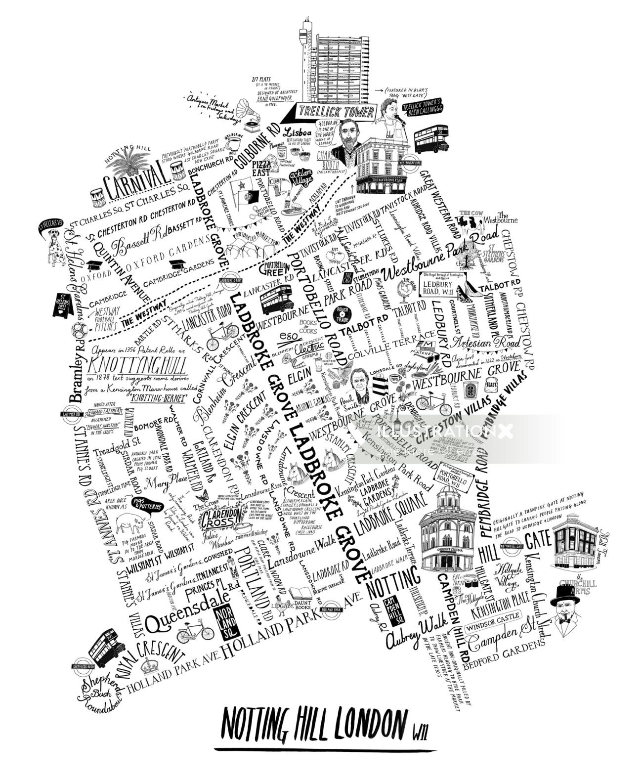 Nottinghill Street Map