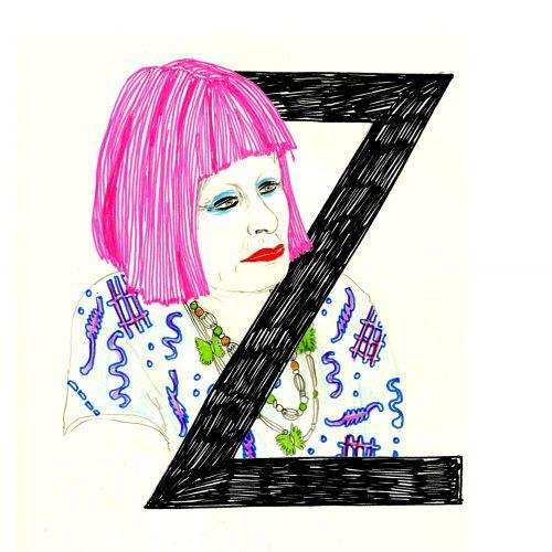 Zandra Women with pink hair