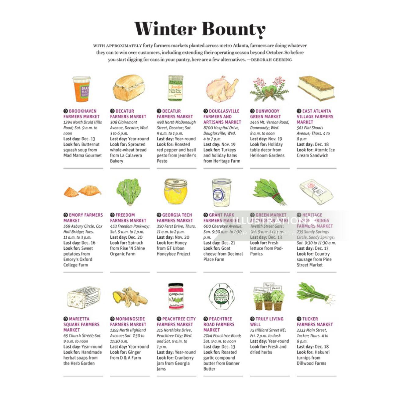 Winter Bounty Page Design