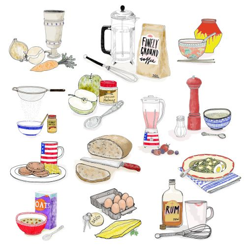 Icons of Food and accessories