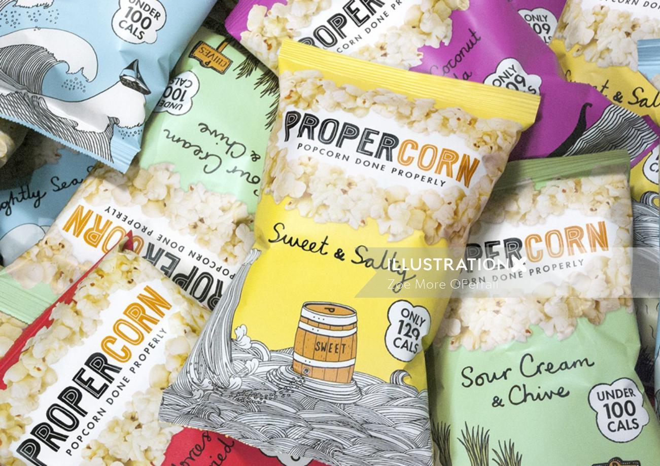 Popcorn Packing Design