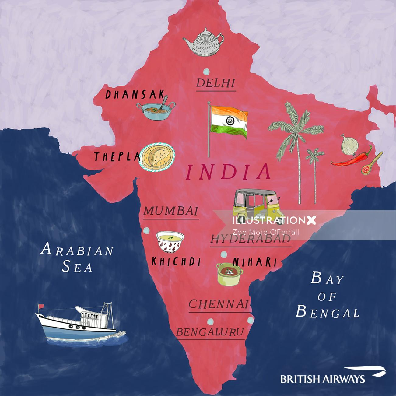 India map illustration