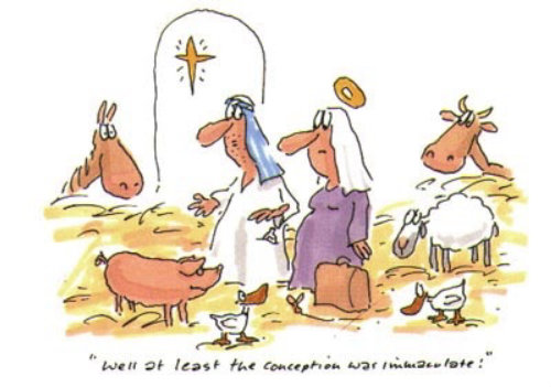 Comic illustration of a animal farm