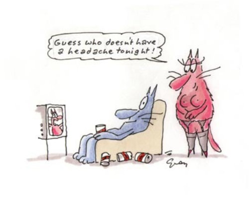 Bande dessinée illustration de chien autoportrait