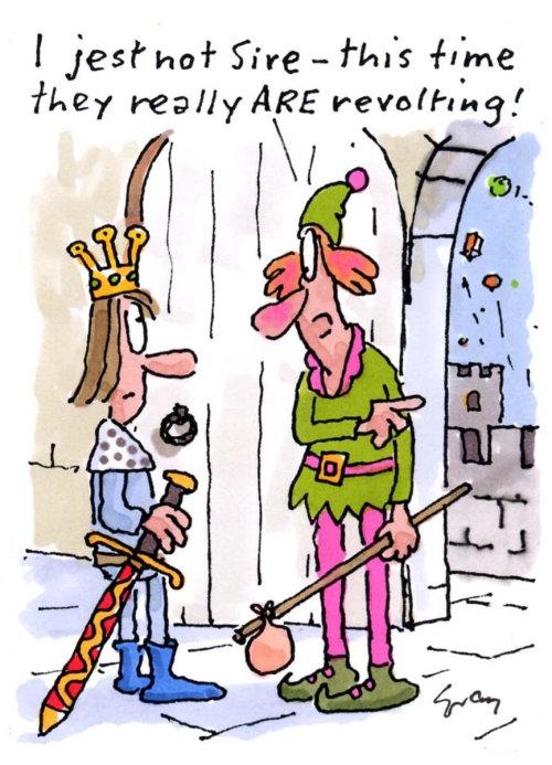 Cartoon art of king castle