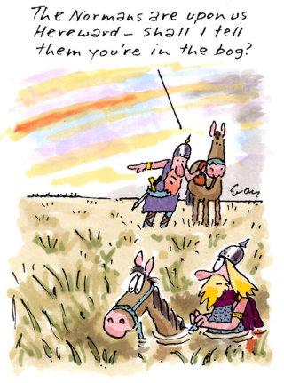 Naormans with horses comic art