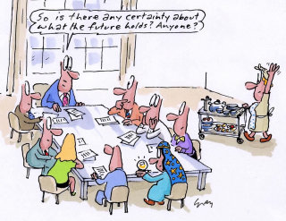 Business meeting comic art