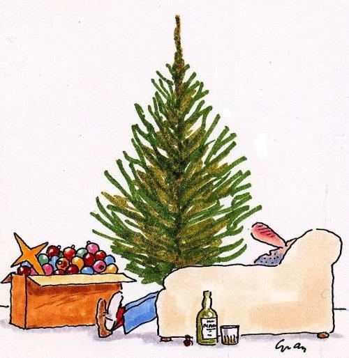 Christmas tree decorations illustration