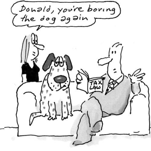 Cartoon couple with dog