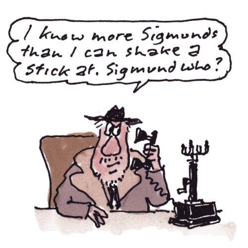 Cartoon Sigmund Freud