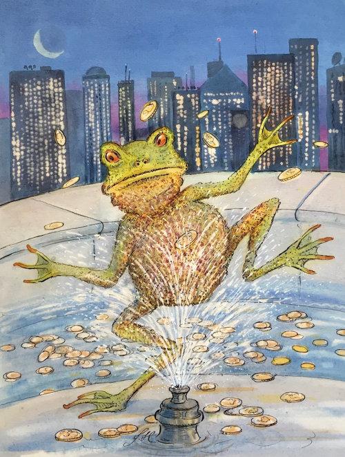 Animal illustration of frog